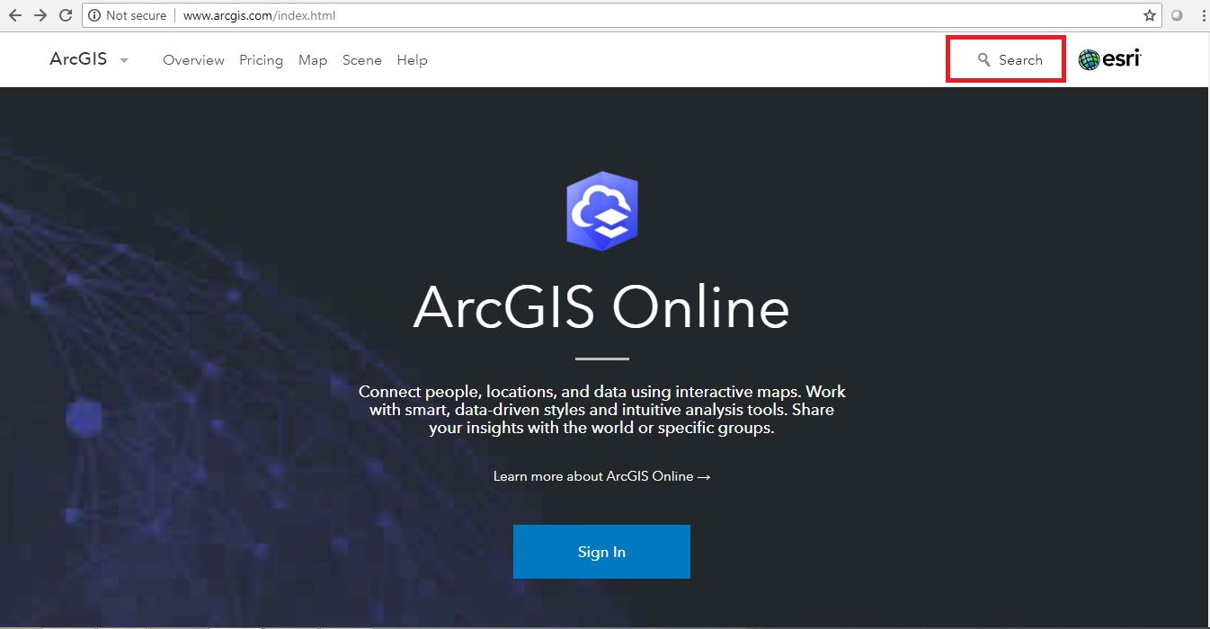 GIS Cloud - ArcGIS Online Search