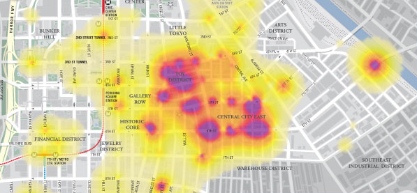 Location Analytics - Heatmap
