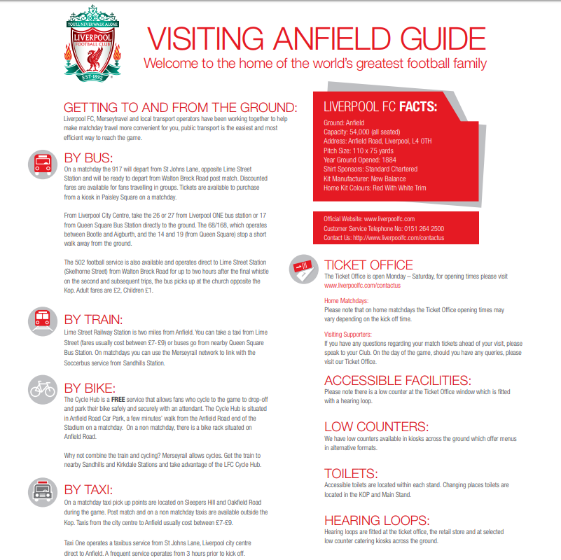 Liverpool Stadium ANFIELD