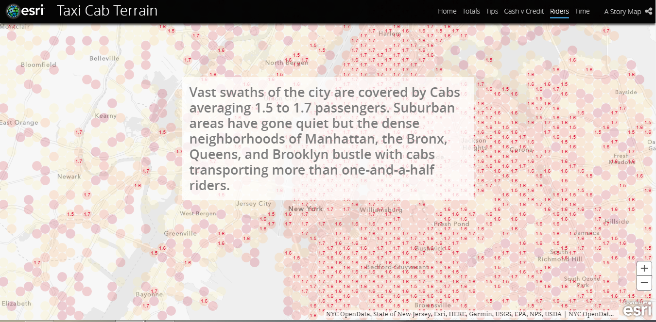 Location Analytics BIG Data GIS - NYC taxi