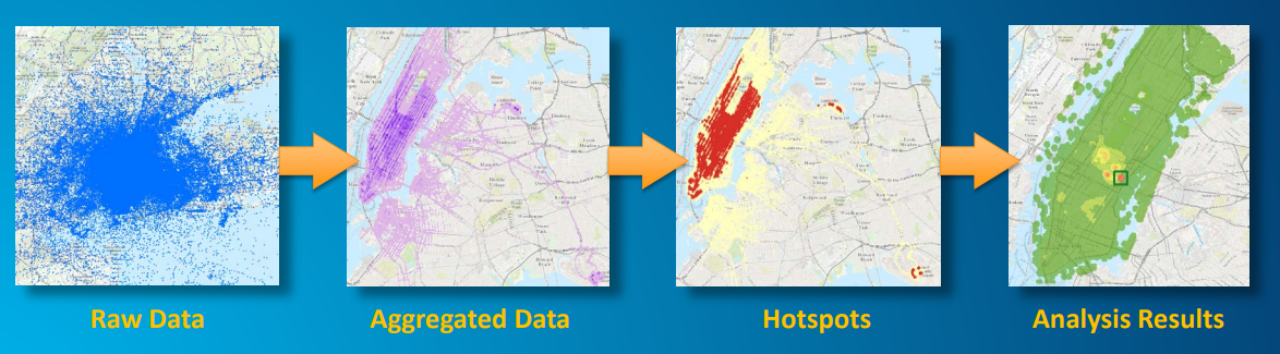 5 case studies for merging BIG Data Analytics with GIS