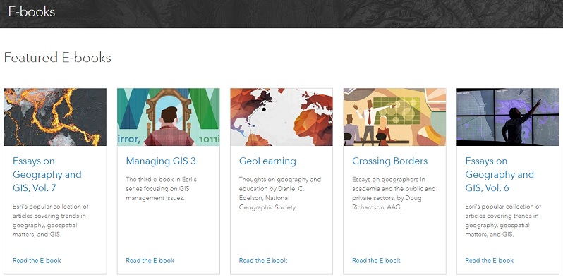 Esri GIS Technology - Free educational Resources - ebooks