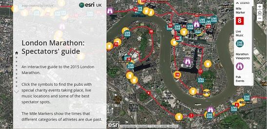 Story Maps - Story telling- London Marathon