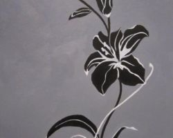 black rose - oil painting - 2012