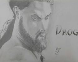 drogo fro game of thrones - graphite pencils - 2014
