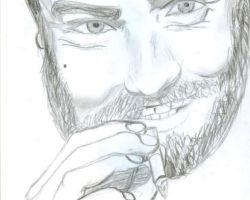 man and cigarette - graphite pencils - 2001