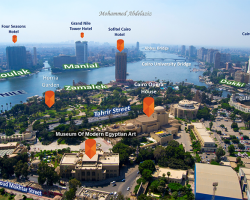 Cairo From A Birdeye View - Mixing Photography With Maps
